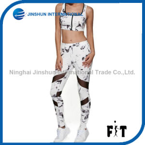 2017 Hot Sales New Mesh Design Sport for Women Print Fitness Bra+Pant Tracksuit Gym Sports Clothing Wholesales pictures & photos