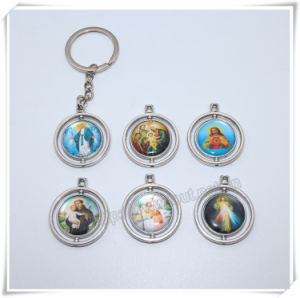 Professional Metal Round Keychain/Virgin Mary Keyring/Cross Key Holder (IO-ck114) pictures & photos