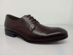 Classic Mens Lace Leather Shoes Black (NX 545) pictures & photos