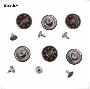 17mm Star Pattern Metal Buttons Bronze Jeans Button pictures & photos