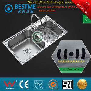 Round Shape Double Basin Stainless Steel Kitchen Sink pictures & photos