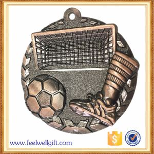 Zinc Alloy Die Casting 3D Brass Logo Football Medals pictures & photos