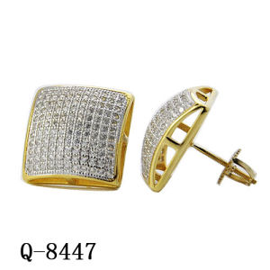 New Design Silver Diamond Earrings Hip Hop Jewelry pictures & photos