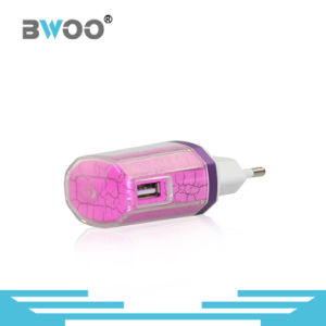 Colorful 2-Ports USB Travel Charger with EU Plug pictures & photos