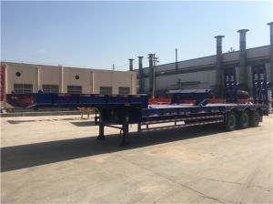 3 Axles Low Bed Construction Semi-Trailer pictures & photos