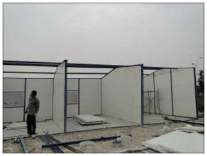 Two Double Bevel Camping House/Prefabricated Mobile House pictures & photos