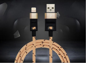 Pure Copper Braided USB Data Charger Power Cable for iPhone pictures & photos