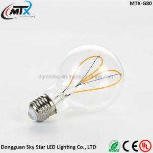 4W 2200K Edison Style Vintage G80 G125 LED Filament Bulb pictures & photos