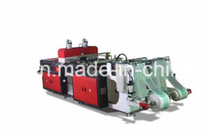 Automatic Double Line Hot Cutting T-Shirt Bag Machine pictures & photos