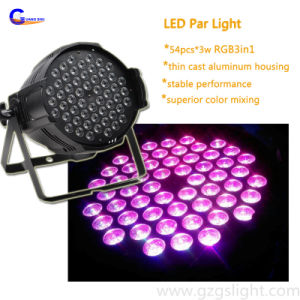 Multicolor LED Stage Decoration Effect Lighting 54PCS*3W RGB 3in1 LED PAR Can Light