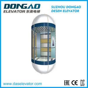 Gearless Observation Glass Passenger Lift with Factory Price pictures & photos