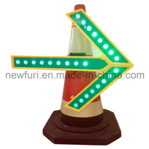 LED Direction Arrow Light Traffic Sign for Traffic Cone pictures & photos