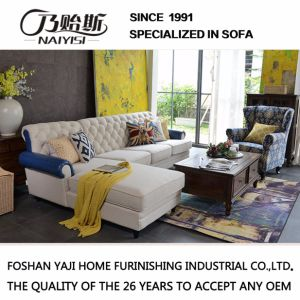 American Country Style Fabric Sofa for Living Room Furniture M3007 pictures & photos