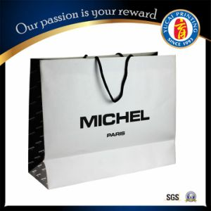 High Quality White Paper Shopping Bag pictures & photos
