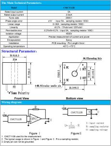 Current Transformer PCB Mounting CT for Current and Power Measurement pictures & photos