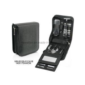 Personal Care Pedicure Kit Black Leather Men′s Manicure Set pictures & photos