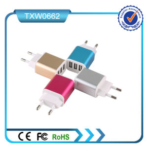 Colorful 5V 2A 3USB Port Mobile Travel Charger