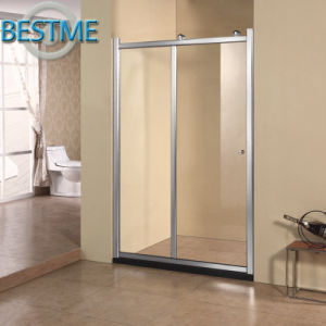 Cheaper Price Tempered Glass Sliding Aluminum-Framed Shower Screen pictures & photos