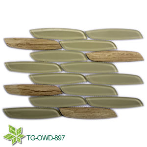 Water Jet Glass Mosaic Tiles (TG-OWD-897) pictures & photos