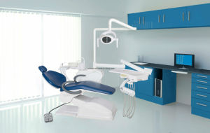 2017 Economic Dental Chair Unit Lk-A12 Integral Unify Move Ceramic Spittoon pictures & photos