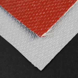 Heat Insulation 10oz Silicone Rubber Coated Glass Fiber Cloth pictures & photos