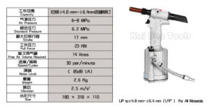 Hydraulic Pneumatic Air Riveter for 4.8mm to 6.4mm Rivets pictures & photos