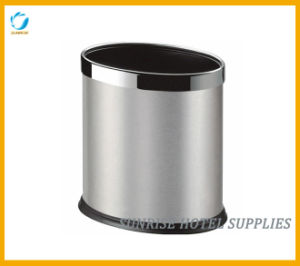 Hotel Recycle Stainless Steel Waste Bin with Brushed Finish pictures & photos