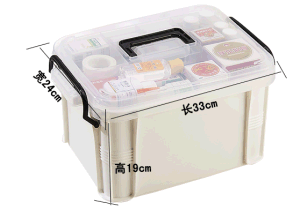 Hotsale Top Quality Medium Size First Aid Plastic Medicine Box Multi-Function Strong Impact Drug Storage Box for Household pictures & photos