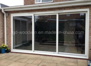 Woodwin Interior or Exterior Aluminum Tempered Glass Sliding Door pictures & photos