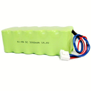 14.4V/3000mAh Sc Ni-MH Battery Packs for Medical Equipment pictures & photos