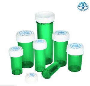 Push Down and Turn Pill Plastic Child Safety Vial Twist Cap Bottles pictures & photos