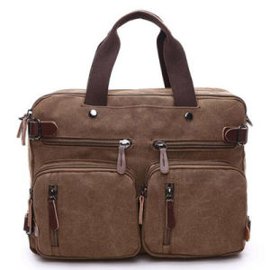 Manufacture Canvas Tote Bag for Men Big Size Sy7855 pictures & photos