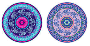 Custom Eco Friendly Yoga Mats with Bag Exercise Natural Rubber Round Yoga Mat pictures & photos