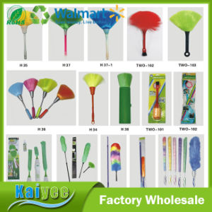 Double Sides Colored Feather Duster with Plastic and Wood Handle pictures & photos