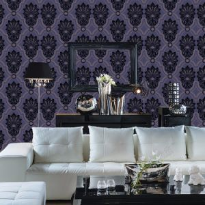 Factory Price Wholesale Flower Design Luxury Flocking Wallpaper pictures & photos