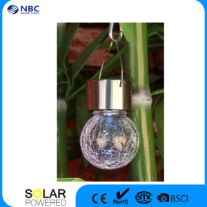 Hanging LED Solar Crackle Glass Ball Light pictures & photos