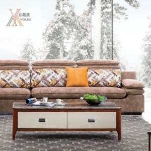 Fashion Fabric Sofa with Adjustable Headrest (975B) pictures & photos