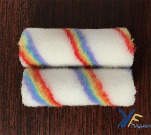 Fy 4′′ Polyester Mini Rainbow Stripe Paint Roller pictures & photos