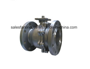 ANSI 2PC Flange Floating Ball Valve pictures & photos