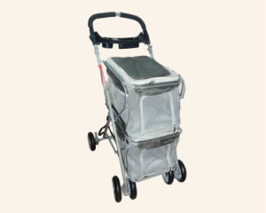 Quality Double Layers Pet Trolley Dog Outdoor Strollers pictures & photos