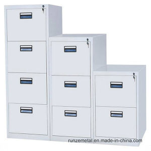 Modern Office Equipment A4 Filing Storage Metal Drawer Cabinet pictures & photos