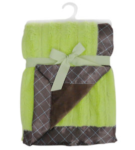 Brushed PV Fleece Baby Blanket with Flange pictures & photos