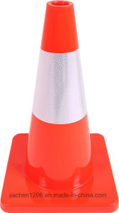 Jiachen 450mm PVC Green Traffic Cone for Road Safety and Construction Use pictures & photos