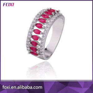 Newest Designs Ruby Cubic Zirconia Wedding Ring Hot Sale in Brazil pictures & photos