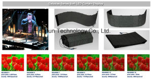 Outdoor Flexible LED Curtain P6 P4 Galaxias Huasun High Quality pictures & photos