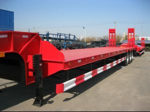 3 Axles Trailer 80t Low Bed Semi Trailer pictures & photos
