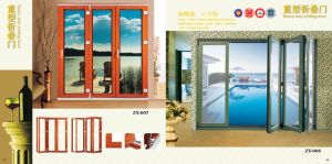 Glass Folding Door (ZY-008) pictures & photos