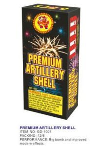 Double Shell Artillery Shell Fireworks with Mortar Tube pictures & photos
