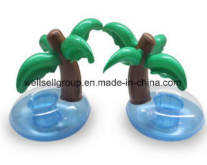 PVC Inflatable Coconut Palm Tree Water Toys Drink Coke Cup Holder Mobile Phone (CPCQ-002) pictures & photos
