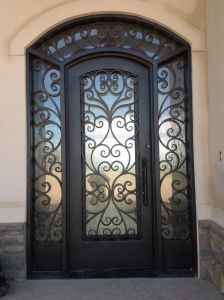 Modern and Simple Wrought Iron Security Doors pictures & photos